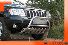 JEEP GRAND CHEROKEE WJ  TUBO PROTEZIONE MEDIUM BULL BAR INOX STAINLESS STEEL