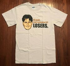 2011 OFFICIAL CHARLIE SHEEN T SHIRT MENS SMALL GRAY LOSERS WINNING MELTDOWN S