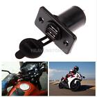 Car Motorcycle Dual USB Charger Power Adapter Socket Outlet Cigarette Lighter
