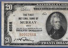 UT  1929  $20   ♚♚ MURRAY, UTAH ♚♚  PMG VERY FINE 25