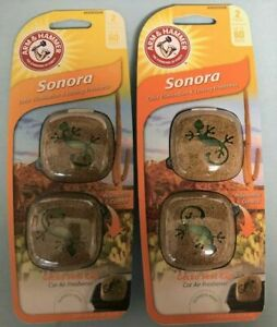 LOT OF 3---Arm & Hammer Sonora Car Air Freshener Vent Clip
