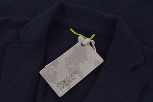 Gran Sasso NWT Travel Wool Sport Coat Size 50 M in Solid Navy $625