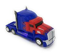 Transformers Robot Truck Car Toy Lights Sounds Bump and Go Action Gift Toy Kids