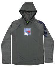 Reebok NHL Youth New York Rangers Long Sleeve Hooded Training Tee