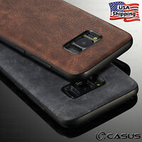 For Samsung Galaxy S9/S8 Plus/Note 8 Luxury Leather Thin Slim Hard Case Cover