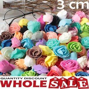 10/100PCS Foam 3cm Roses Wedding Craft Flower Party Decoration Favor SELLER UK