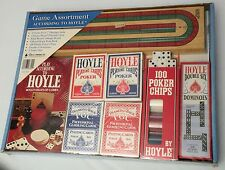 1991 GAME ASSORTMENT BY HOYLE !!SEALED IN BOX!! Cards, Dominoes, Cribbage, Poker
