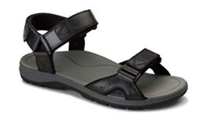 Vionic Leo Black 3-Strap Adjustable Comfort Sandal Men's US sizes 7-13 NEW!!!
