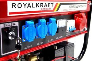 Stromerzeuger 8500 WE mit E-Start Schlüsselstart Stromaggregat Generator Stromge