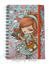 Goth : Grand Carnet de Notes à Spirales Kimmidoll Love BLEU & ROSE gothique