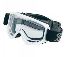 Biltwell Moto Motorcycle Goggles • White With Clear Lens • MG-WHT-00-BK