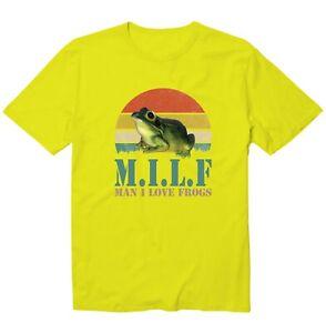 Retro M.I.L.F Man I Love Frogs Vintage Sunset Unisex Kid Youth Graphics T-Shirt