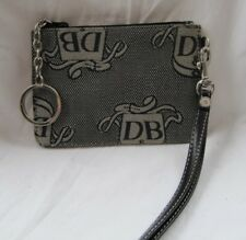 #smallsSALE DOONEY & BOURKE SIGNATURE BLACK/TAN WRISTLET purse bag case
