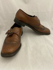 Hanover LB Sheppard Brown Wingtip Buckle Shoes Size 9 1/2 Vintage