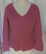 Women's Silk Blend None V Neck Jumpers & Cardigans
