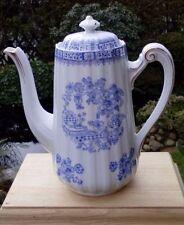 Kaffeekanne mit Untersetzer, China Blau, alt, vielleicht Tillowitz Silesia