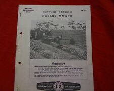 Horwood Bagshaw rotary slasher Owner operators manual book
