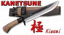 "Kanetsune Seki 8.27"" KIWAMI Field Knife Super Blue Steel w/ Wood Sheath KB-119"