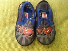 M&S lightning McQueen grey/blue slippers. Infant UK 5.