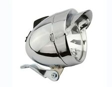 BICYCLE VINTAGE BULLET HEADLIGHT CHROME VISOR HIGH LOW BEAM BIKES