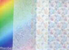 2 x A4 Sheets Vellum 112gsm Choice of Rainbow/Lace/Blue & Rustic Butterfly NEW