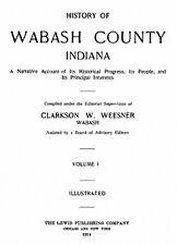 2 Vol 1914 Genealogy History Wabash County Indiana IN