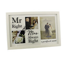 Amore Multi Photo Frame Mr Right & Mrs Always Right  NEW  22264