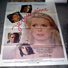 JE VOUS AIME original large 1980 movie poster CATHERINE DENEUVE/SERGE GAINSBOURG