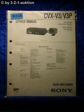 Sony Service Manual CVX V3 /V3P Color Video Camera (#6338)