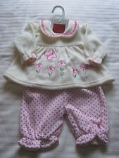 2-piece Girls Velour Outfit by Isabelle Rose 3/6 mths