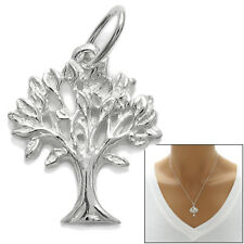925 Sterling Silver Small Tree of Life Charm Pendant