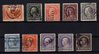 P126848/ UNITED STATES – 1912 / 1915 USED SEMI MODERN LOT – CV 285 $