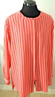 Vince Camuto Women Top Blouse Striped Front Long Sleeve Long Sleeve Size Medium.