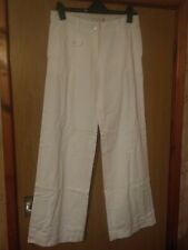 Saltwater Ladies Cotton Drill Trousers White/Chalk Size 8