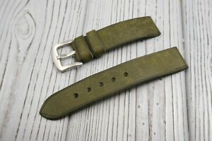 Leather Watch strap Handmade 16mm 18mm 20mm 22mm 24mm 26mm Olive