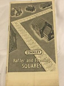1948 How to Use the Stanley Rafter Square Booklet Black And White