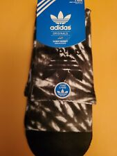 Adidas socks large black and white mid crew