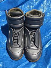 Maison Margeila Paris Future Charcoal Grey Men's Hi Top Sneakers Sz10 S57WS0131