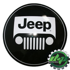 """15"""" Domed Tin Metal Sign Jeep Front Grill round domed sign black and white mopar"""