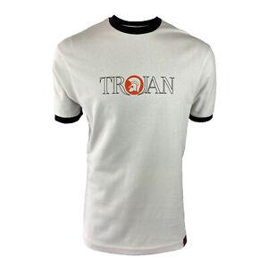 Trojan Mens Outline Logo Tee-Ecru