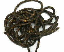 "4-5mm Heishi Brown Coconut Wood Beads 8 16"" Strands (10+ Feet of Beads)"