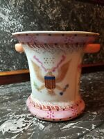 Antique Chinese Export Porcelain American Eagle Armorial Famille Rose Vase