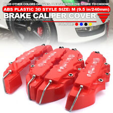 4x 240mm 3D Style Red ABS Car Universal Disc Brake Caliper Covers Front&Rear Kit