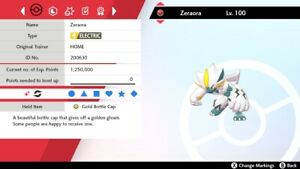 Ultra Shiny 6IV* Max Raid Home Event Hasty Zeraora Pokemon Sword/Shield + Item