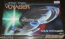 USS VOYAGER Model Kit MISB + Deflector Lighting Parts , Fiber Optic Star Trek