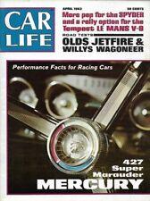 CAR LIFE MAGAZINE - 1963 April 427 MERCURY OLDS JETFIRE WILLY WAGONEER  EX    1