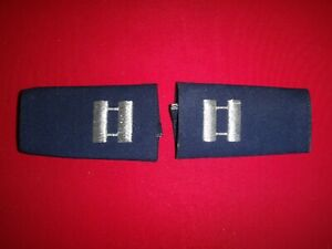 Pair Of USAF Air Force CAPTAIN Rank Shoulder Badges Small Epaulets