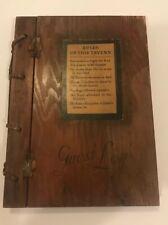 Vintage Wood Guest Log Book