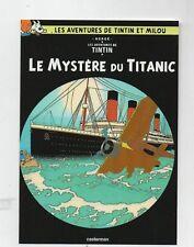 Carte Postale Tintin PASTICHE - Le Mystère du Titanic. La Boite aux Images.