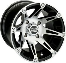Moose Racing ATV UTV Type 387X Wheel 14x7 4+3 Offset 4/136 Machined Black Frnt